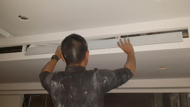 安裝中央空調冷氣出風口蓋-1