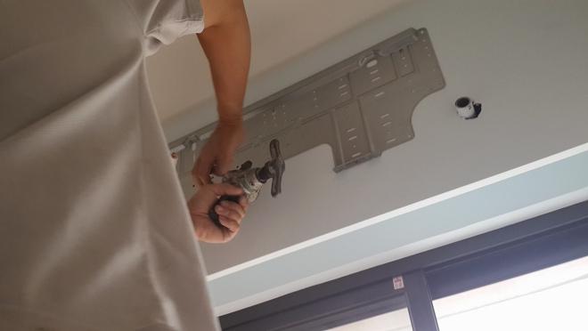 分離式冷氣壁掛板定位